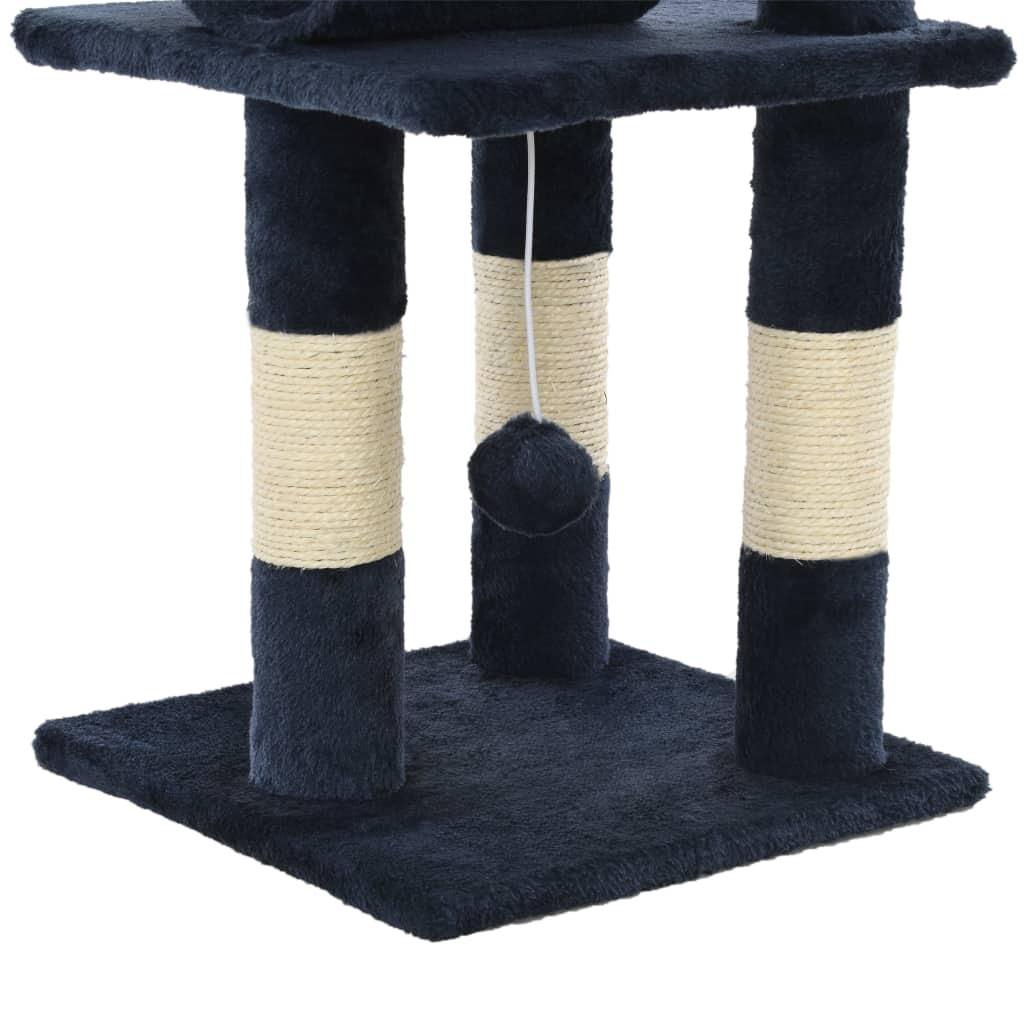 Drapak dla kota ze słupkami sizalowymi, 65 cm, granatowy