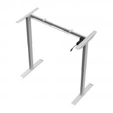 Stół podnoszony (regulowany) elektrycznie Acgam – dostosowuje się do różnych potrzeb (konstrukcja bez blatu) – szary
