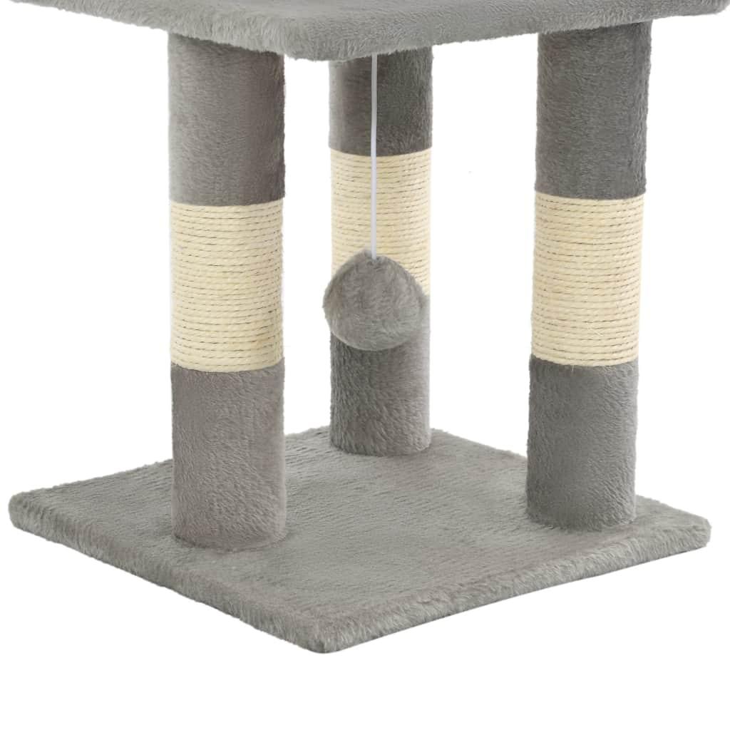 Drapak dla kota ze słupkami sizalowymi, 65 cm, szary