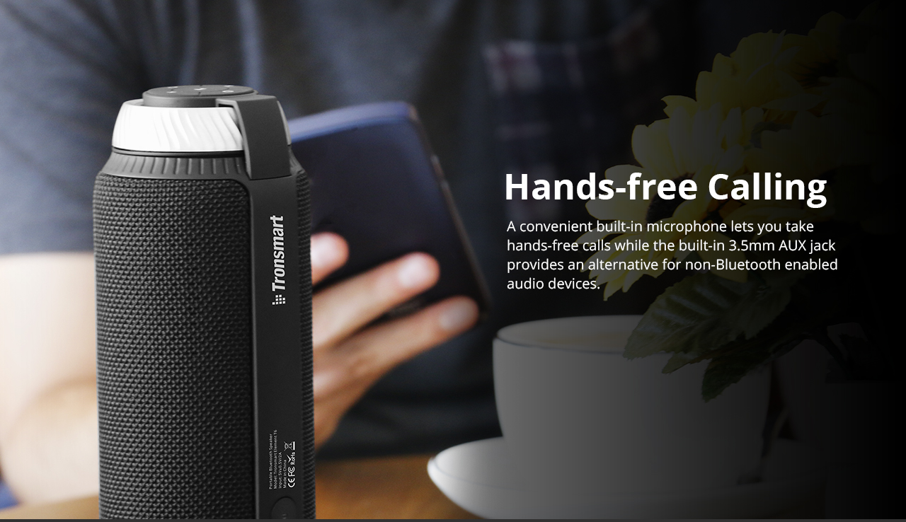 [Poland Stock]Tronsmart Element T6 25W Portable Bluetooth Speaker with 360 Degree Stereo Sound and Built-in Microphone - Red