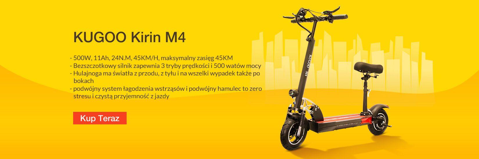 Hulajnoga Elektryczna KUGOO Kirin M4 - Geekbuying.pl