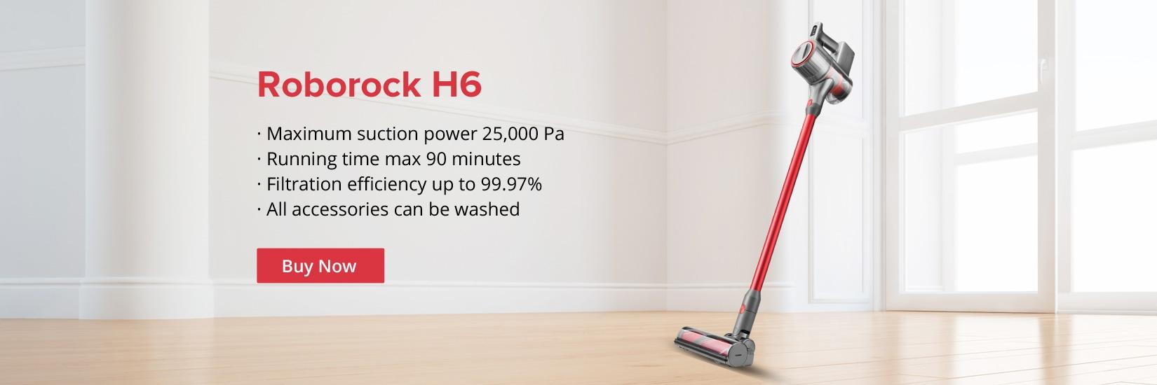 Roborock H6 Portable Wireless Handheld Vacuum Cleaner