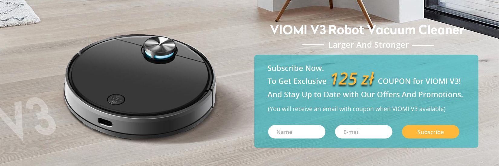 Xiaomi VIOMI V3 Robot Vacuum Cleaner Subscribe Activities - Geekbuying.pl