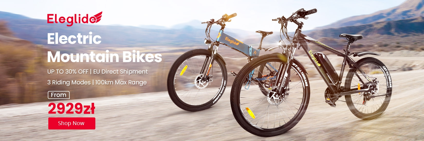 Eleglide electric mountain bikes, from only 2929zł! save up to 30%!